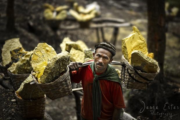 Ijen Miner Kawah Ijen Indonesia