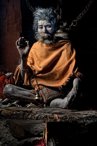 Sadhu Meditating - Kathmandu Nepal