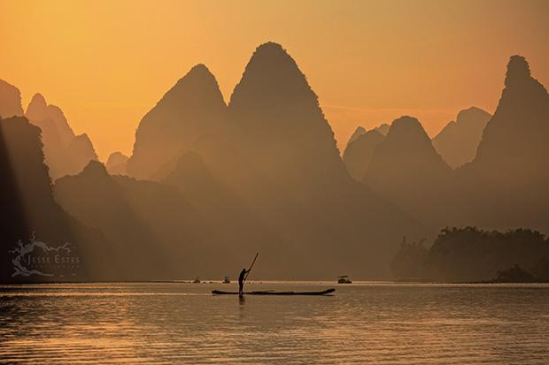 Li River - Photographing Guilin China