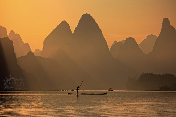 Li River - Photographing Guilin China